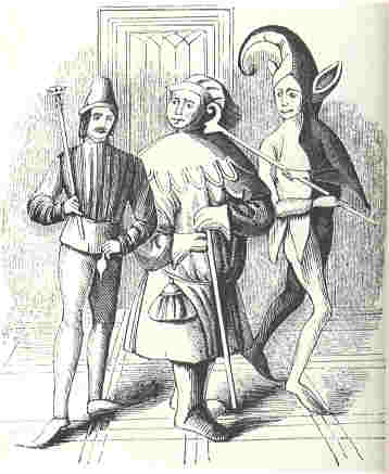A court fool and a buffoon from the 13th century