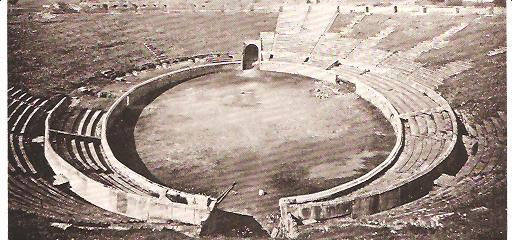 Ancient Roman amphitheatre at Pompeii
