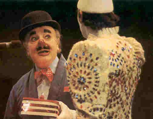 Charlie Cairoli and son at Blackpool Tower Circus
