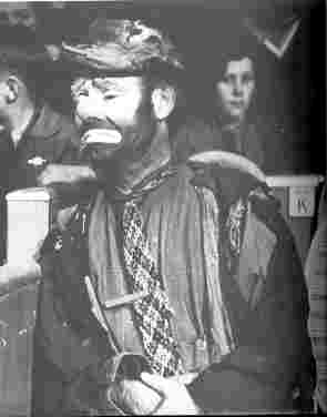 Emmett Kelly, tramp clown from the USA