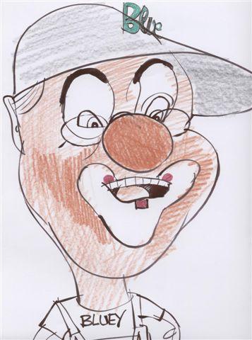 Clown Bluey caricature