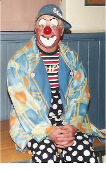 Clown Bluey takes a break