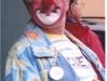 Clown Bluey wearing a bowler in Denmark