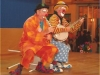 Clown Bluey and Conk perform on stage, Terceira, Azores