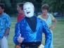 "Clown Bluey as traditional Whiteface Clown, ""Jean Barrel"""