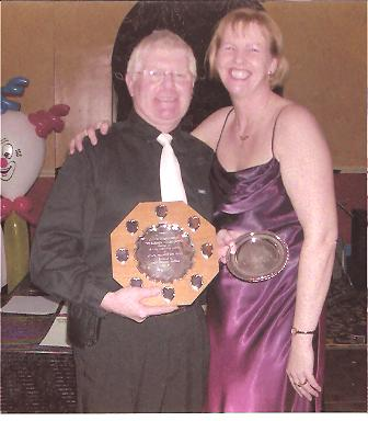 Bluey is presented with the Barbara Miller Award, 2004