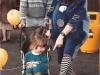 Clown Bluey amuses a young fan