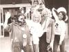 Clown PC Bluey and Sammy Sunshine with promotion girls