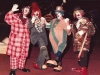 Clowns Smokey, Bingo, Bluey and Sammy Sunshine at the Royal Albert Hall