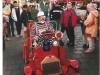 Clown Bluey entertains in Utrecht, Netherlands