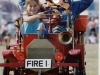 Fireman Bluey's passenger takes the wheel!