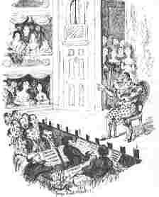 Joey Grimaldi's last performance, 1828
