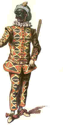 Original Italian harlequin in the 13th century