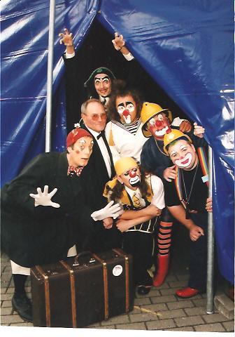 Clown Bluey's Fire Engine Entrée in the Big Top, Utrecht, Netherlands
