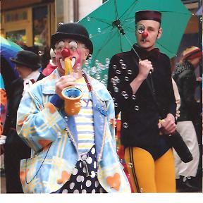 Clown Bluey with a Danish clown