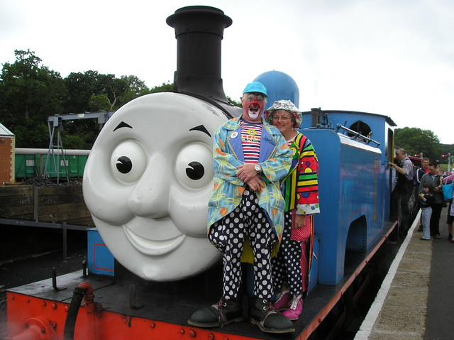 Bluey, Flossie and Thomas the Tank Engine