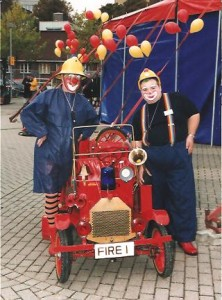 Clown Bluey's Fire Engine at the Big Top, Utrecht