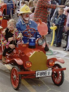 Fireman Clown Bluey on parade